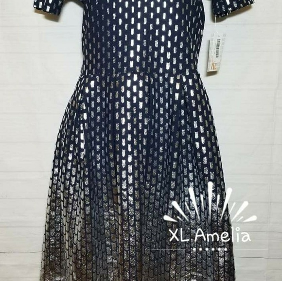 0a212757d7c9c LuLaRoe Other | Navy Blue Silver Holiday Elegant Dress | Poshmark